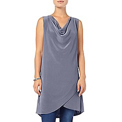 Phase Eight - Sky alice silk cowl tunic