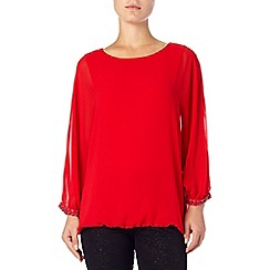 Phase Eight - Scarlet amari beaded blouse