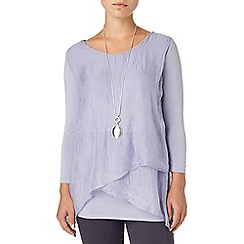 Phase Eight - Light Mauve megan silk and jersey blouse