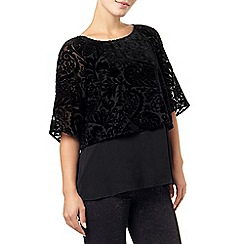 Phase Eight - Black 'Shivani' devore blouse