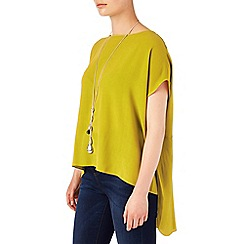 Phase Eight - Chartreuse lana crepe blouse