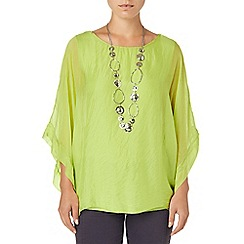 Phase Eight - Lime zinnia blouse