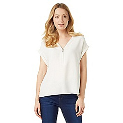 Phase Eight - Remi Zip Front Crepe Blouse