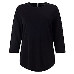 Phase Eight - Black nikki zip back top