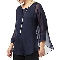 Phase Eight - Navy cecilia silk blouse