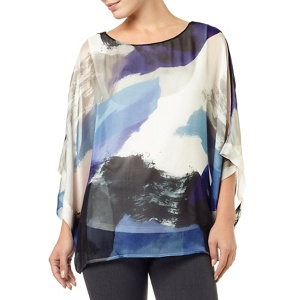 Phase Eight Blue And Multi Fabienne Silk Blouse