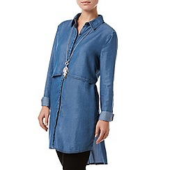 Phase Eight - Indigo Wash maida tiered tunic