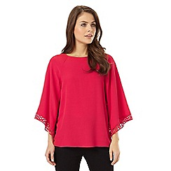 Phase Eight - Hena Crochet Sleeve Top
