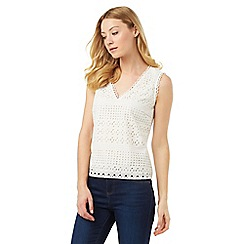 Phase Eight - Tessa Broderie Sleeveless Top