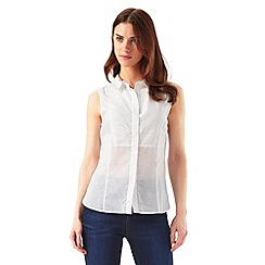 Phase Eight - Dahlia Sleeveless Broderie Bib Shirt