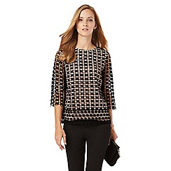Phase Eight - Joy Textured Contrast Lace Blouse