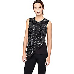 Phase Eight - Gayle Asymmetric Sequin Top