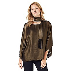 Phase Eight - Fina Foil Fringe Scarf Top