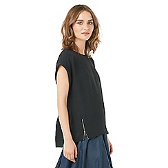 Phase Eight - Maddy Double Zip Crepe Blouse