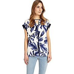 Phase Eight - White Pia Print Blouse