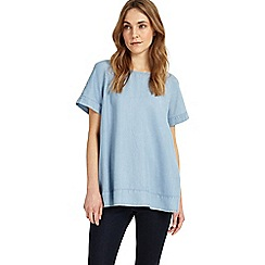 Phase Eight - Blue Alissia Chambray Blouse