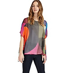 Phase Eight - Multi-coloured phoenix printed silk blouse
