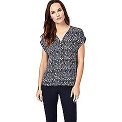 Phase Eight - Navy remi denver print blouse