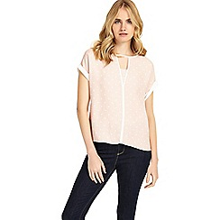 Phase Eight - Nude and ivory silvia spot blouse