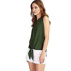 Phase Eight - Green Allie tie front blouse