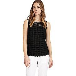 Phase Eight - Black alba lace blouse
