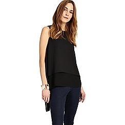 Phase Eight - Black lottie split back blouse