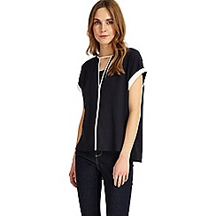 Phase Eight - Navy and ivory remi contrast blouse