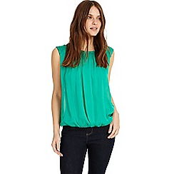 Phase Eight - Green riley pleat front silk blouse