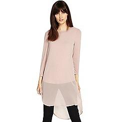 Phase Eight - Romantic Pink kady double layer chiffon blouse