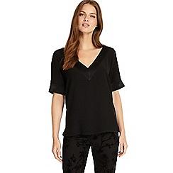 Phase Eight - Black fiona v-neck strap detail blouse