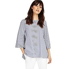 Phase Eight - Blue and Ivory penelope stripe blouse