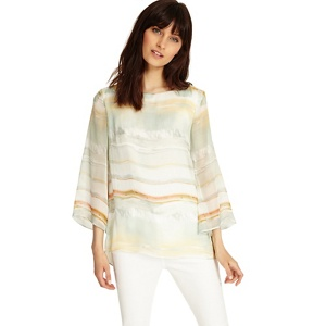 Phase Eight Multi-coloured eliza stripe silk blouse