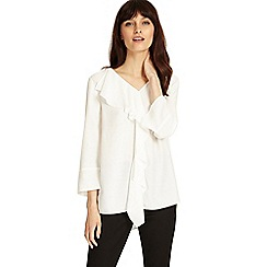 Phase Eight - Ivory lenia frill blouse