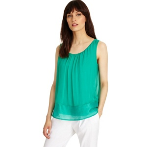 Phase Eight Green mai silk blouse