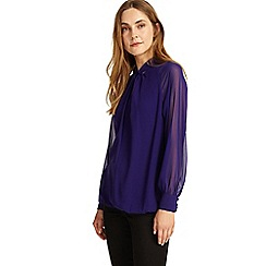 Phase Eight - Electric Purple yas twist front blouse