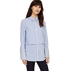 Phase Eight - Blue and Ivory verity stripe shirt
