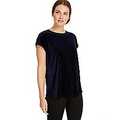 Phase Eight - Midnight Addison velvet t-shirt