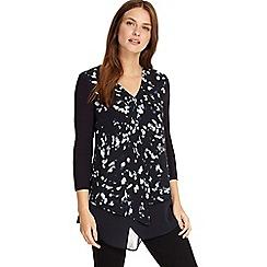 Phase Eight - Navy lenia printed blouse