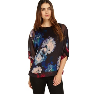 Phase Eight Davinia orchid silk blouse