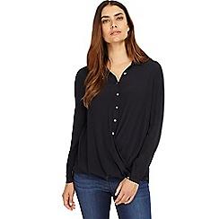 Phase Eight - Navy poppy blouse