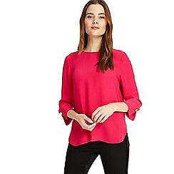 Phase Eight - Decadent pink Bettie cuff detail blouse