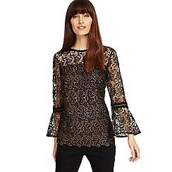 Phase Eight - Tianna metallic lace blouse