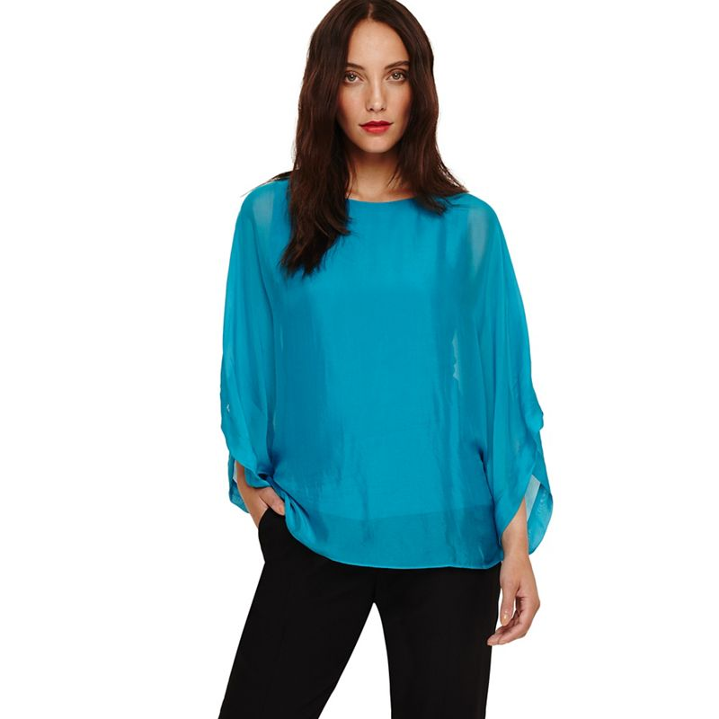 Phase Eight - Blue Fabia Silk Blend Blouse
