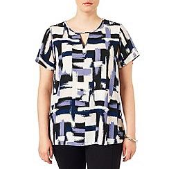 Studio 8 - Sizes 16-24 Diane brush stoke blouse