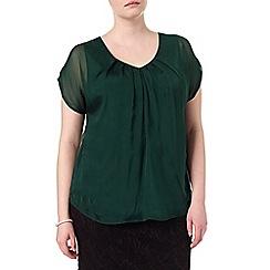 Studio 8 - Sizes 16-24 Delphine v-neck blouse