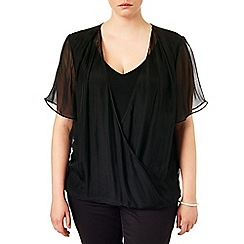 Studio 8 - Sizes 16-24 Beatrice wrap blouse