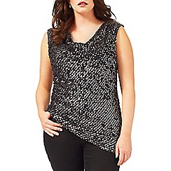 Studio 8 - Sizes 16-24 Gold tyra sequin top