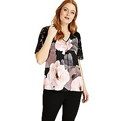 Studio 8 - Sizes 12-26 Multi-coloured Abby top
