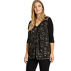 Studio 8 - Sizes 12-26 Black and Gold imelda top