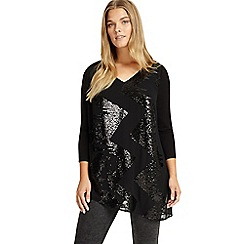 Studio 8 - Sizes 12-26 Black nikita sequin top